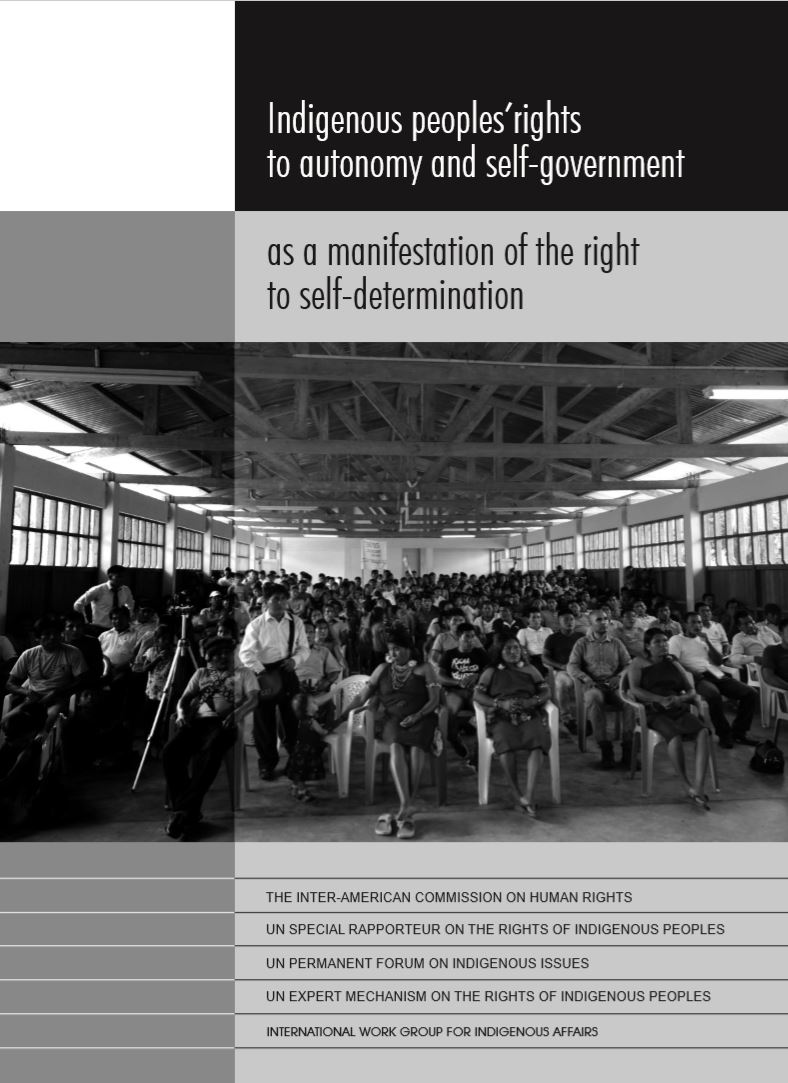 Indigenous peoples' rights to autonomy and self-government