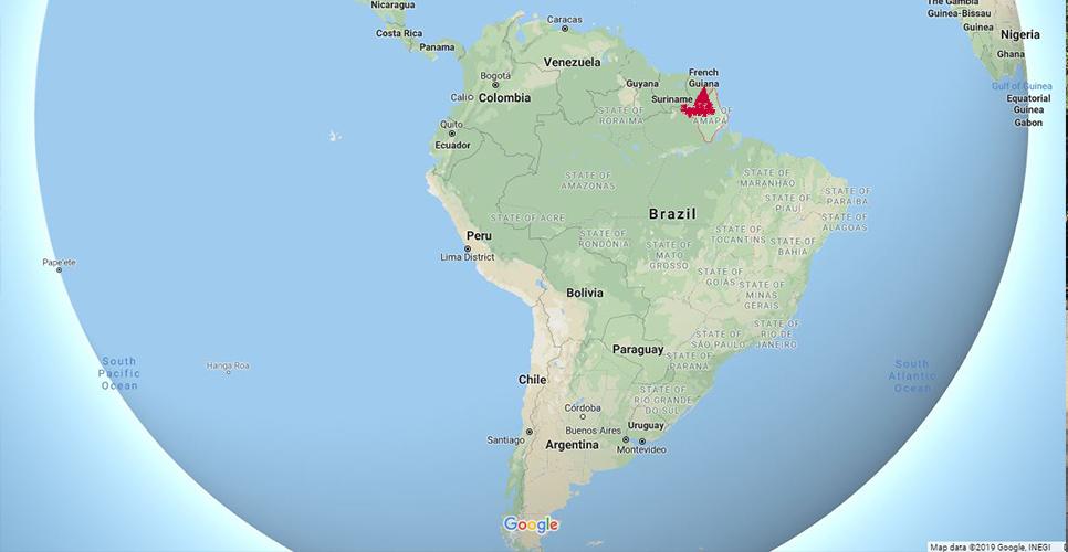 Photo: Area of Waiãpi indigenous reserve / Google Maps
