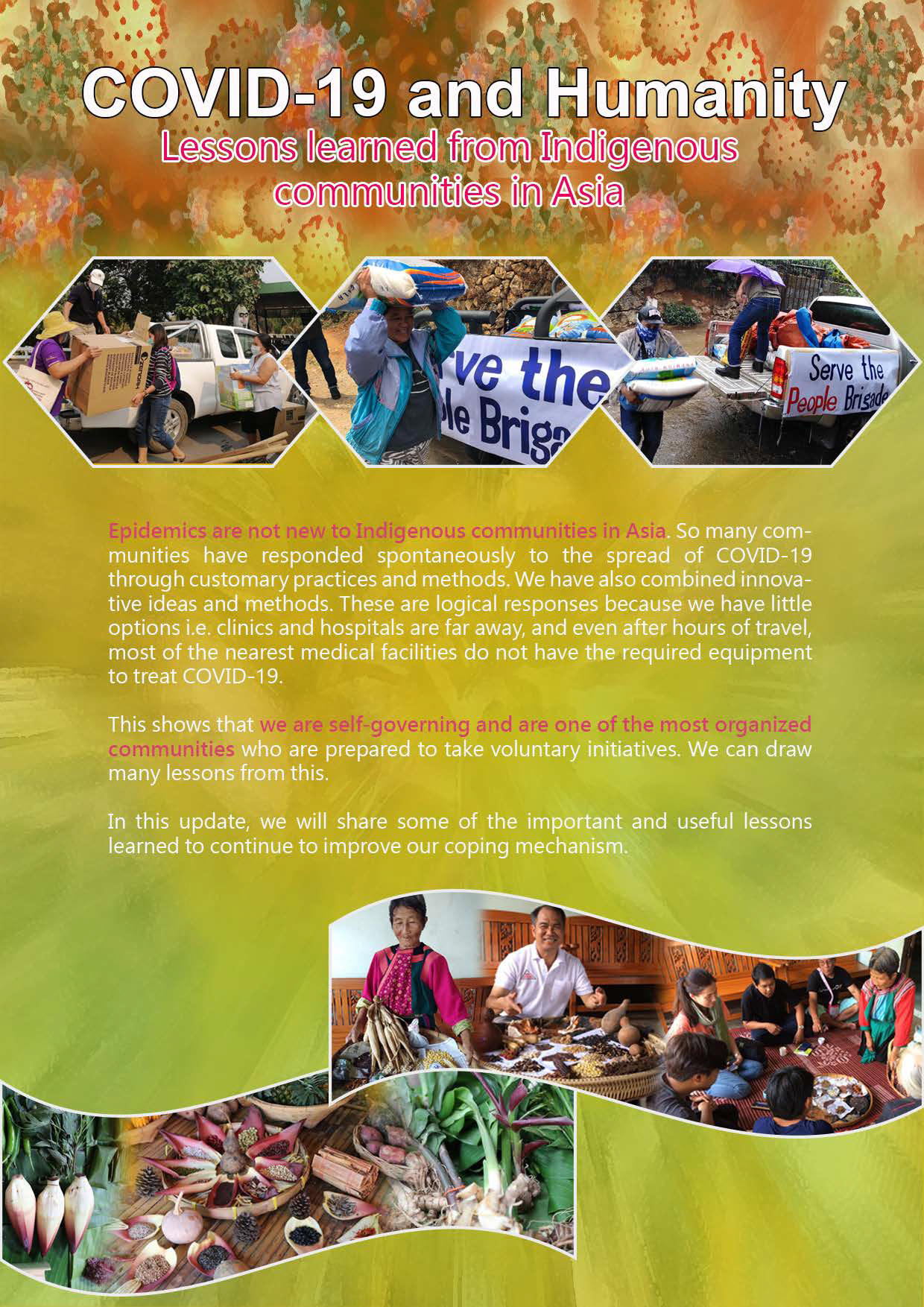 Cover from AIPP's report: COVID-19 and Humanity - Indigenous Peoples in Asia
