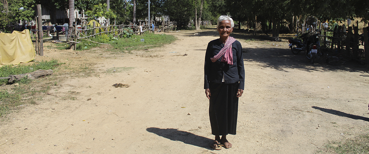 Photo: Putla standing on the same road where she stopped the trolleys in 2009