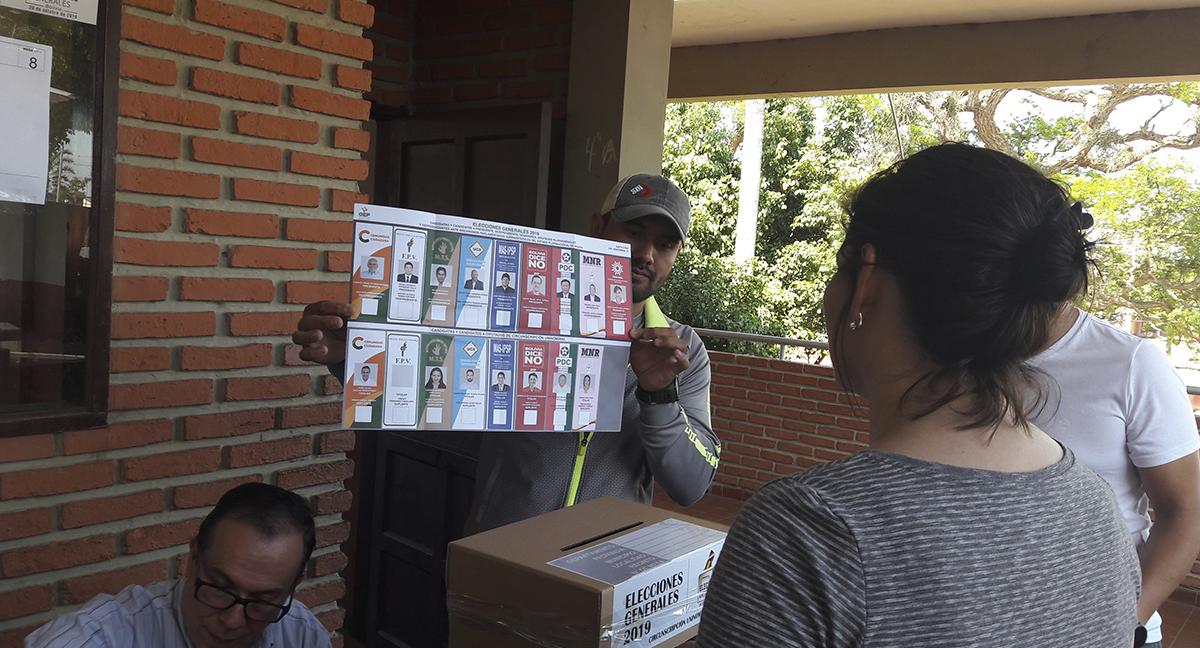 Foto Boleta Electoral. Fuente: Damián Andrada