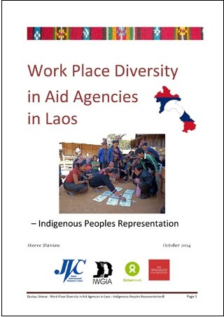 Work Place Diversity in Aid Agencies in Laos