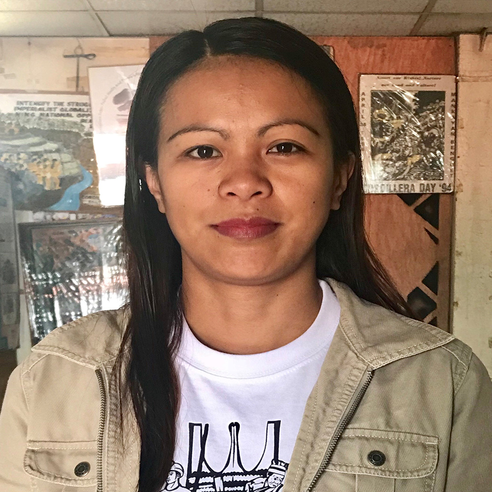 Bestang Sarah Dekdeken, Kankanaey Igorot from the Cordillera region in northern Philippines and the current Secretary General of CPA.